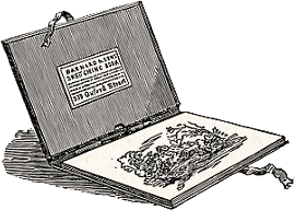 Illustration of an Antique Artist Travel Box