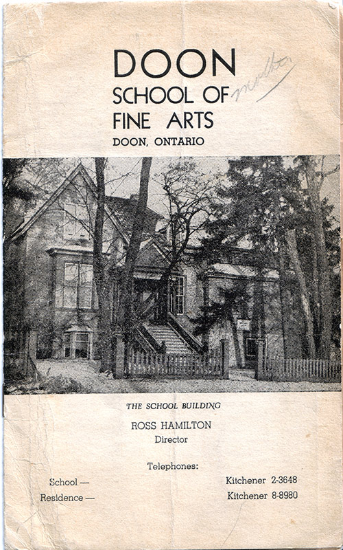 Doon School of Fine Arts Booklet c.1950s