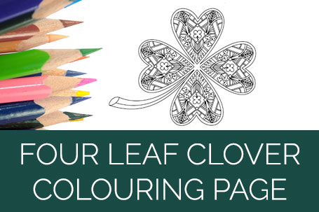 Four Leaf Clover Colouring Page
