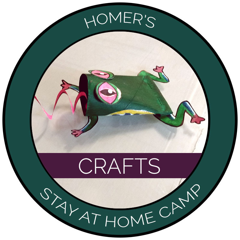 Homer's Stay at Home Camp Crafts