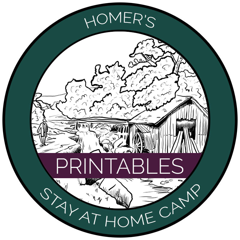 Homer's Stay at Home Camp Printables