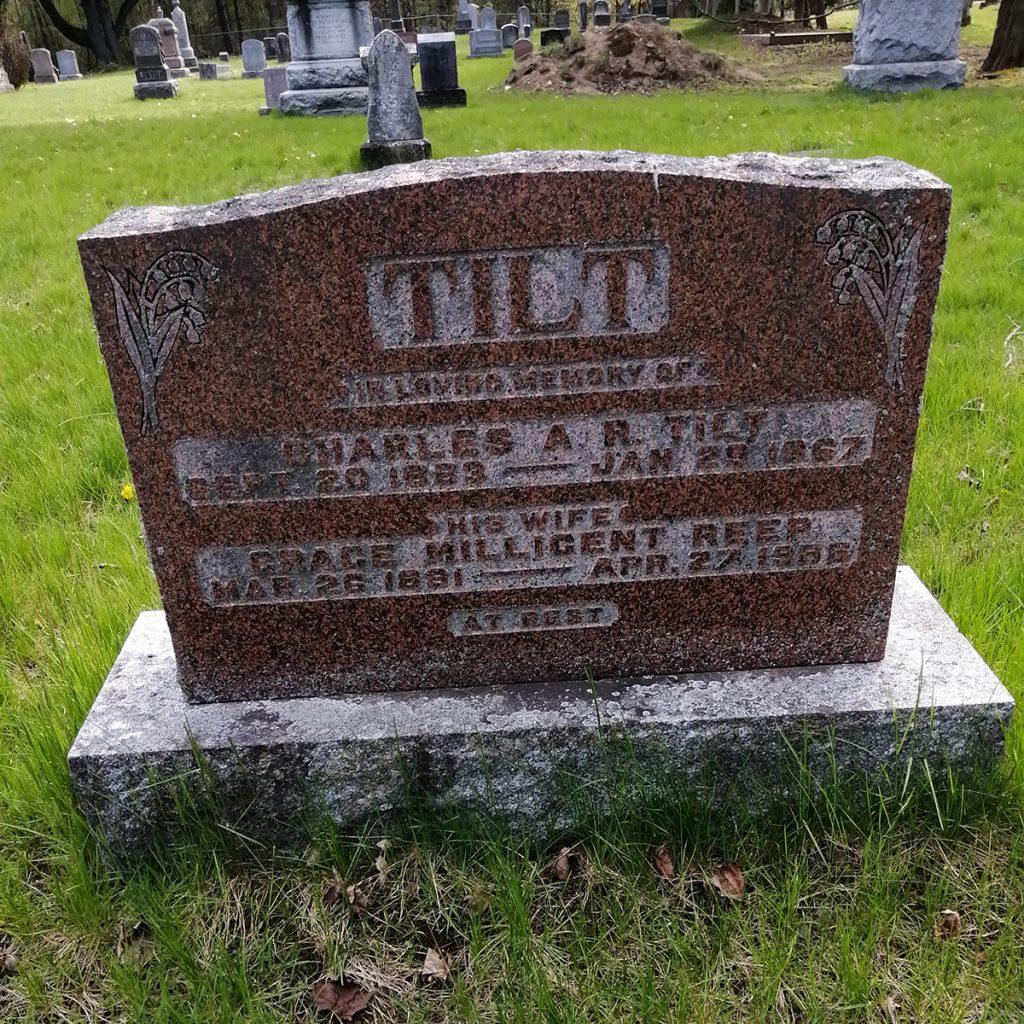 Charles Tilt Gravestone