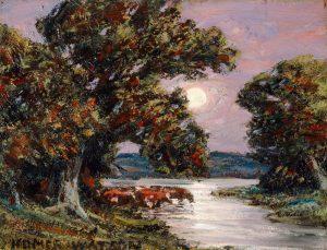 Homer Watson, Evening Moonrise (1933)