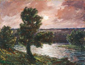 Moonlit Stream (1933), Oil on panel