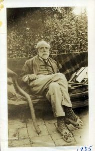 Homer Watson seated at home in 1935